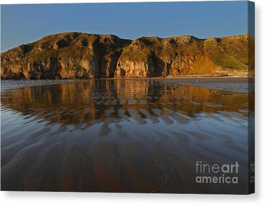 Brean Down Reflection Canvas Print by Urban Shooters