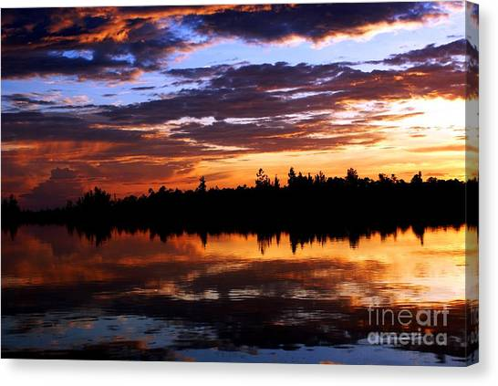 Breathtaking Sunset Canvas Print by Luis and Paula Lopez