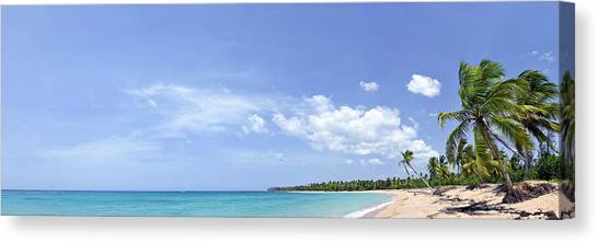 Breathtaking Tropical Beach Panorama Canvas Print by Sebastien Coursol