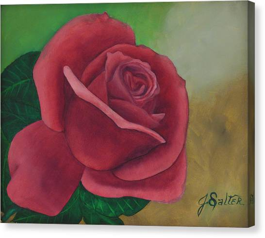 Brent's Rose Canvas Print by Julliette Salter