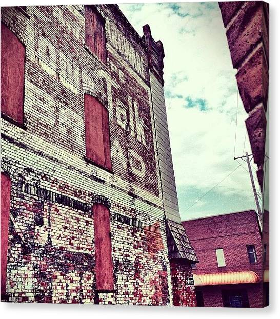 Kansas Canvas Print - #brick #building #ghostsign #boarded by Caleb Kennedy