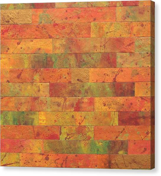 Brick Orange Canvas Print