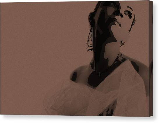 Bride Canvas Print - Bride by Naxart Studio