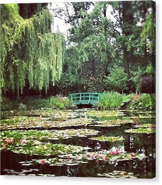 Impressionism Canvas Print - Bridge & Pond by Marce HH