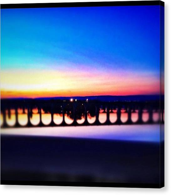 Foxes Canvas Print - Bridge + Sunsets by Rachel Fox Burson