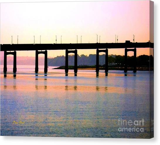 Bridge At Sunset Canvas Print
