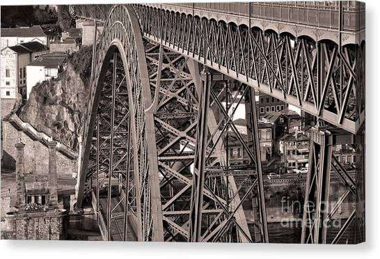 Bridge Construction Canvas Print