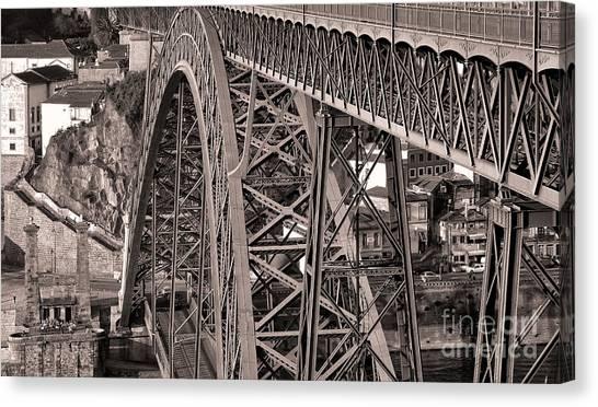 Bridge Construction Canvas Print