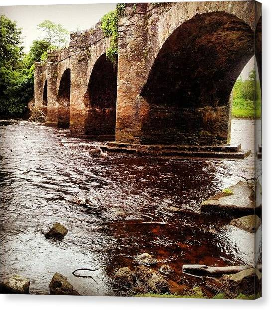 Ireland Canvas Print - Bridge In Buncrana by Yael D