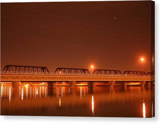 Bridge In The Mist Canvas Print
