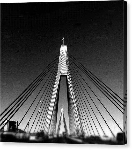 Saints Canvas Print - bridge #iphoneography by Kendall Saint