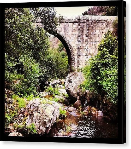 Roman Art Canvas Print - #bridge #oldbridge #romans #cabrum by Francisca Andrade