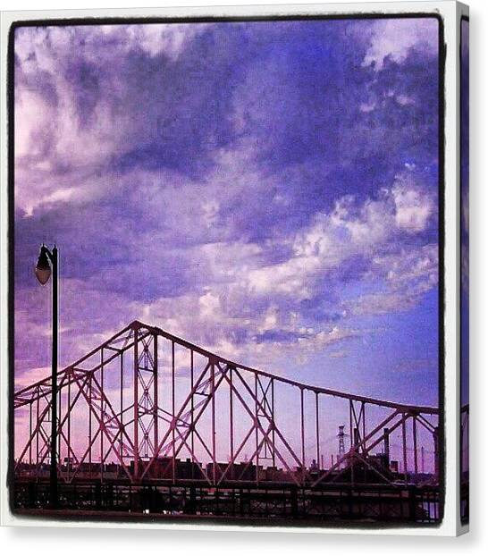 Saints Canvas Print - Bridge Over The Mississippi by Anna Beasley