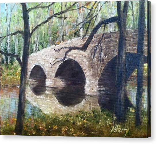 Bridge Over The Perkiomen Canvas Print