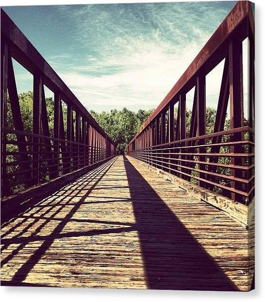 Virginia Canvas Print - #bridge #rva #vanishingpoint #shadow by Rob Beasley