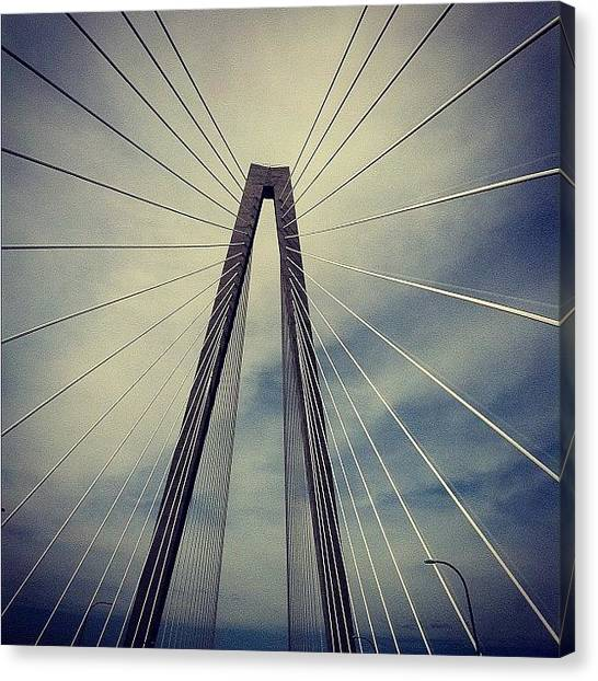 South Carolina Canvas Print - #bridge #support #charleston #sc #ocean by Joshua Wilson