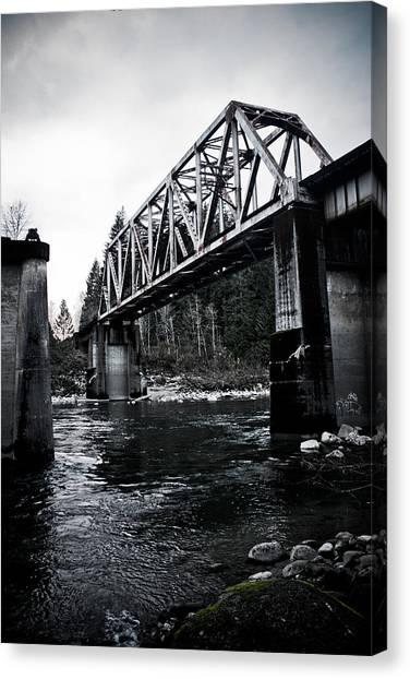 Bridge To Nowhere Canvas Print by Warren Marshall