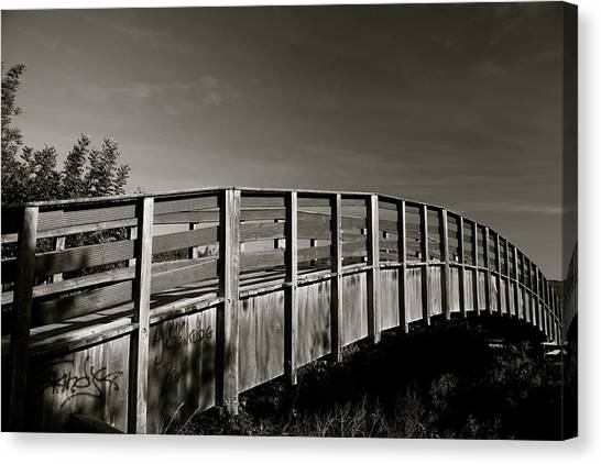 Bridge To The Falls Canvas Print by Jez C Self