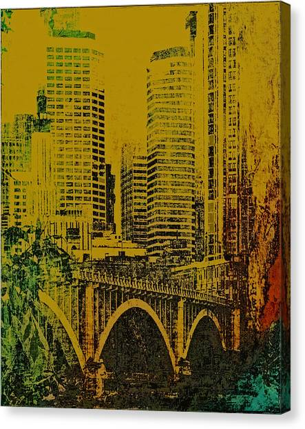 Bridging Minneapolis Canvas Print