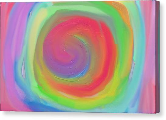 Bright Spiral Canvas Print