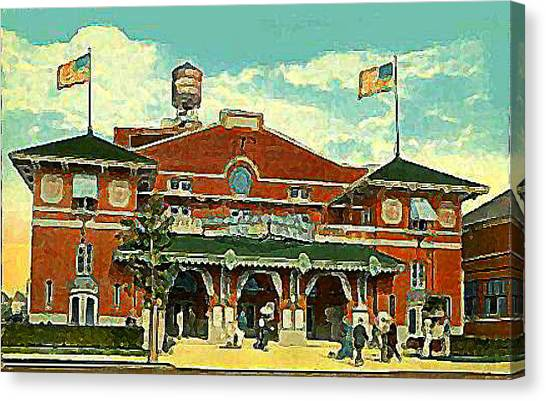 Brighton Beach Theatre At Coney Island In 1910 Canvas Print by Dwight Goss