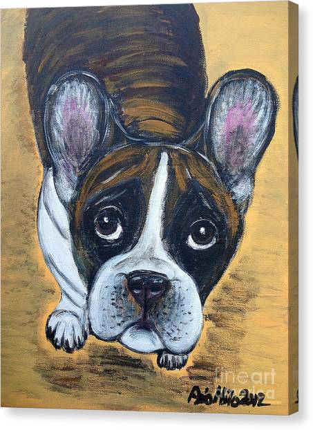 Brindle Frenchie Canvas Print
