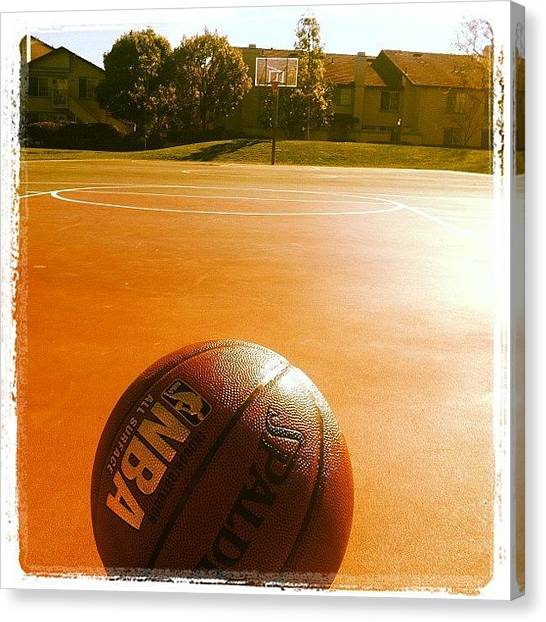 Ashes Canvas Print - Bring It On Dad. Pre Super Bowl Bball by Ash Eliot