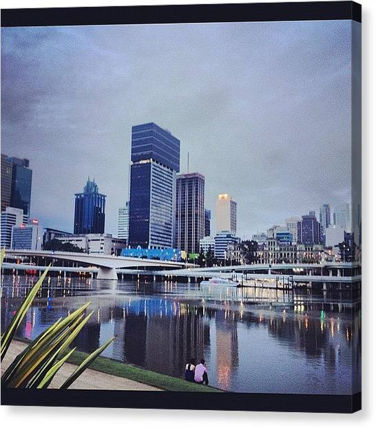 Metropolis Canvas Print - Brisbane City In The Morning by Steve Guy