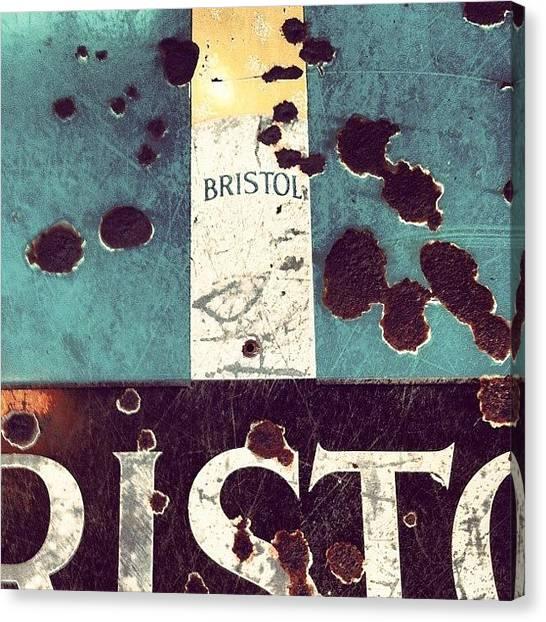 Pub Canvas Print - Bristol Fags by Chloe Stickland