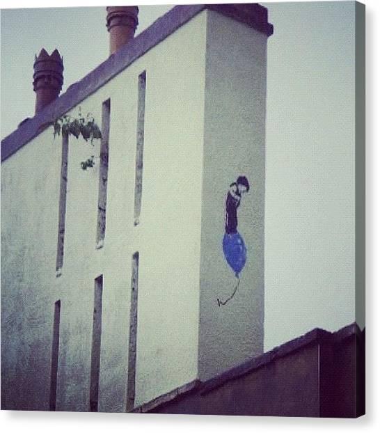 Balloons Canvas Print - #bristolart #bristolgraffiti by Nigel Brown