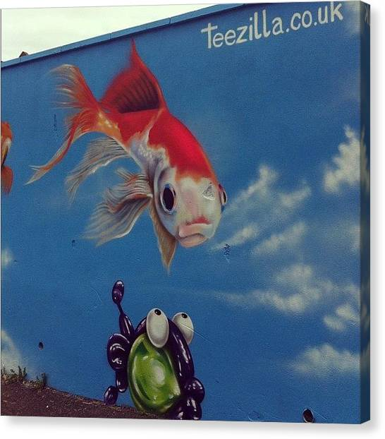 Koi Canvas Print - #bristolgraffiti #bedminster by Nigel Brown