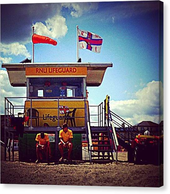Lifeguard Canvas Print - Brit Lifeguards by Iain Carter