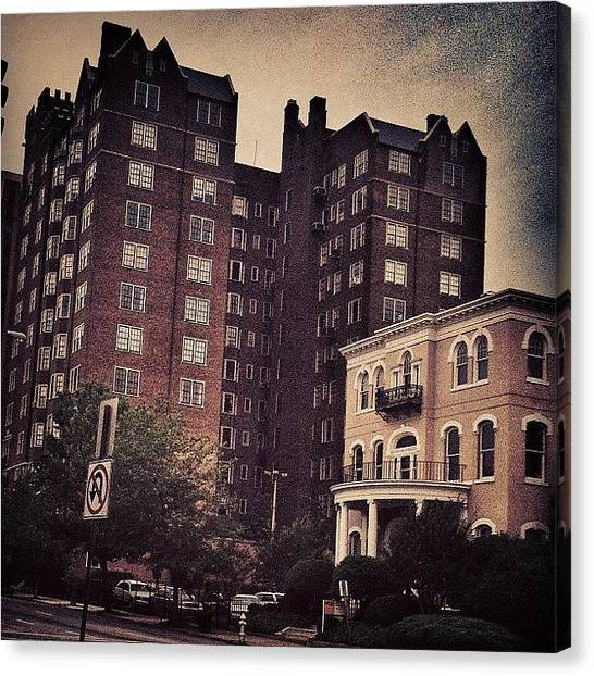 Virginia Canvas Print - #broadstreet By #vcu, #rva, #richmond by Mel F.