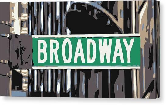 Broadway Sign Color 6 Canvas Print