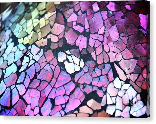 Broken Glass Mosaic Squares Canvas Print by Angela Waye