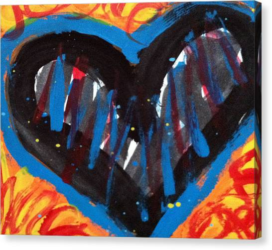 Broken Heart And Power Of Love Collide Canvas Print by Bethany Stanko
