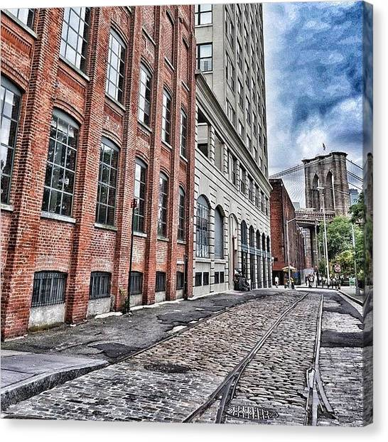Industrial Canvas Print - Brooklyn - Ny by Joel Lopez