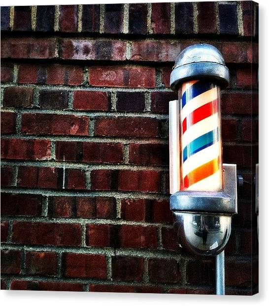 Times Square Canvas Print - Brooklyn Barber Shop.  by Luke Kingma