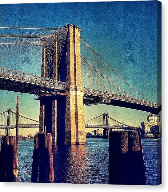 Skyscrapers Canvas Print - Brooklyn Bridge - New York by Joel Lopez