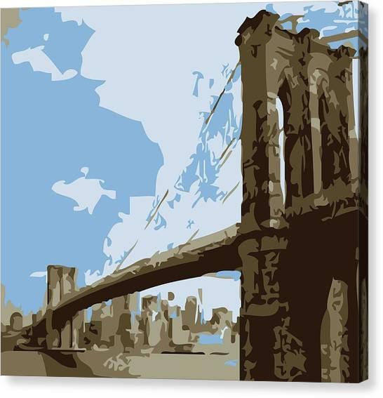 Brooklyn Bridge Color 6 Canvas Print