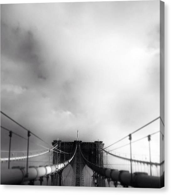 Roads Canvas Print - #brooklyn #bridge #newyorker #newyork by Joel Lopez