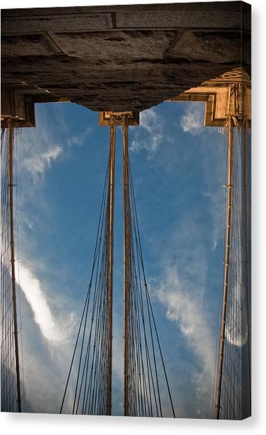 Brooklyn Bridge Perspective Canvas Print by Patrick  Flynn
