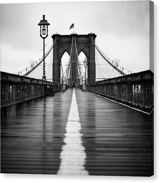 France Canvas Print - Brooklyn Bridge by Randy Lemoine