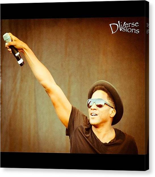 Microphones Canvas Print - #brooklyn #hip #hop #festival #nyc Q-tip by Harington