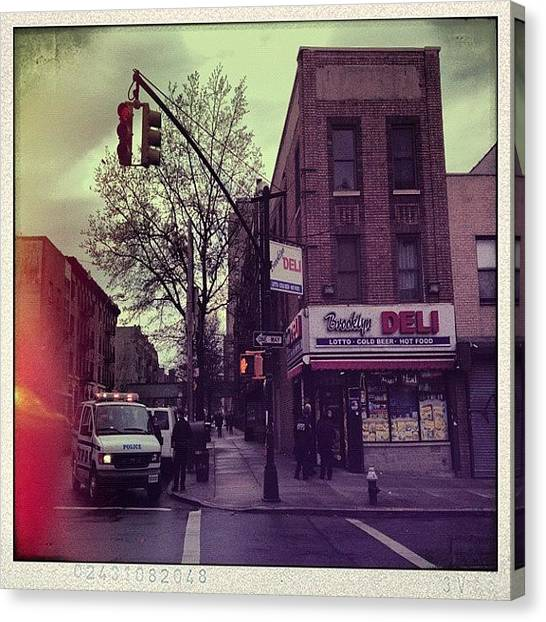 Law Enforcement Canvas Print - #brooklyn#deli #tbt #march28#2012 - by Anthony McNally