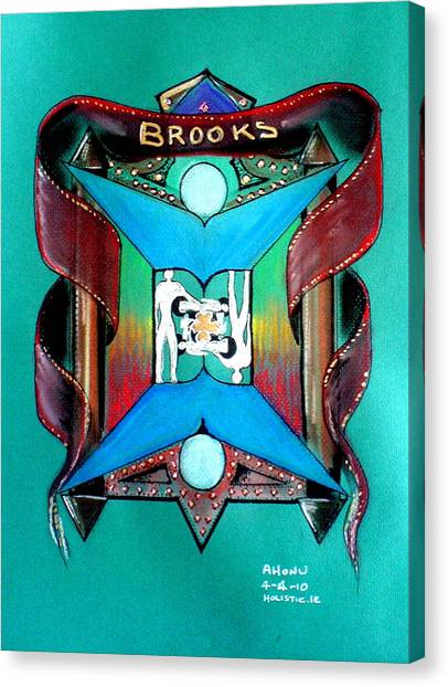 Brooks Family Crest Canvas Print