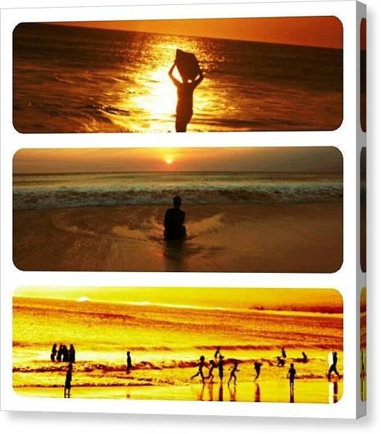 Shakira Canvas Print - #brother #beach #santolobeach #surfing by Inas Shakira
