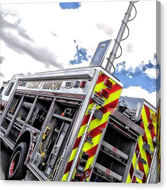 Firefighters Canvas Print - #brotherhood #firefighting #firefighter by James Crawshaw