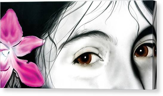 Brown Eyed Girl Canvas Print