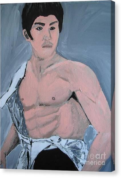 Bruce Lee Canvas Print by Jeannie Atwater Jordan Allen